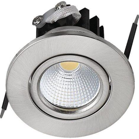 Spot LED downlight rond Mat chrome 3W (Eq. 25W) Diam 65mm