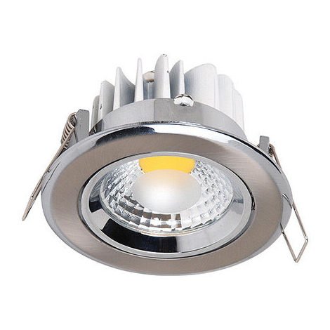 Spot LED downlight rond Mat chrome 3W (Eq. 25W) Diam 90mm