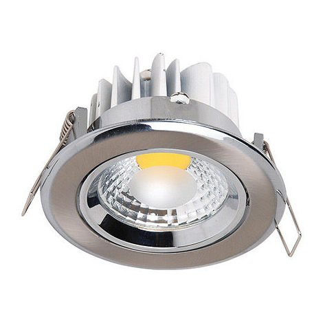 Spot LED downlight rond Mat chrome 5W (Eq. 50W) Diam 90mm