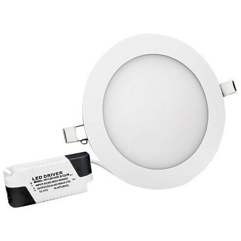 Spot LED downlight rond ultra plat - 18W 3000K - Blanc chaud
