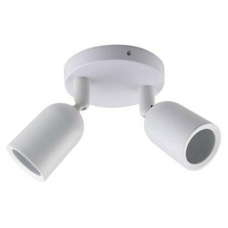 Spot LED en Saillie Double Orientable BLANC pour Ampoule GU10 - SILAMP