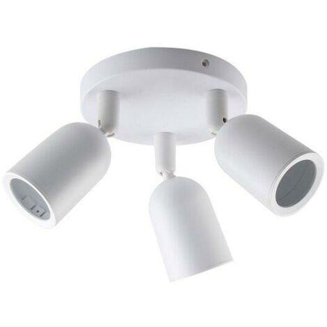 Spot LED en saillie Triple Orientable BLANC pour ampoule GU10 - Blanc - SILAMP