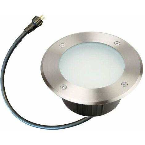 Spot led encastrable 12V abords Piscine Blanc froid- Inox 316- Diam 175 Cm