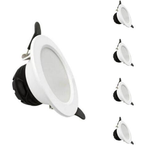 Spot LED Encastrable 6W Rond BLANC lumière variable (pack de 5)