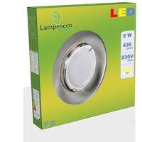 Spot Led Encastrable Complete Alu Brossé Lumière Blanc Chaud 5W eq.50W ref.763