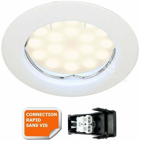 SPOT LED ENCASTRABLE COMPLETE RONDE FIXE eq. 50W BLANC NEUTRE