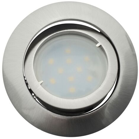 Spot Led Encastrable Complete Satin Orientable lumière Blanc Neutre eq. 50W