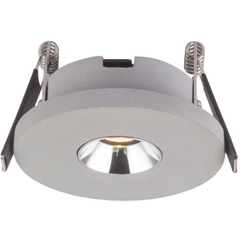 Spot LED encastrable en béton gris salon éclairage plafonnier rond Globo 55011-1E