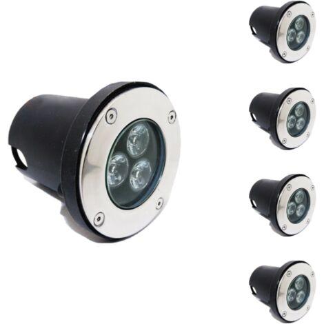 Spot LED Encastrable Extérieur IP65 220V Sol 3W 80 (Lot de 5)