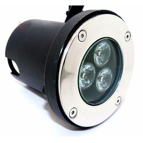 Spot LED Encastrable Extérieur IP67 3W 80° - Blanc Froid 6000K - 8000K