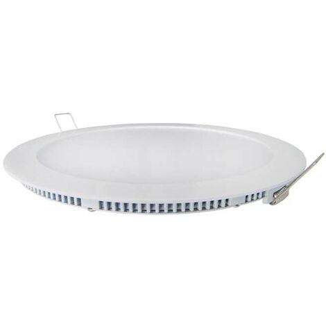Spot LED encastrable extra plat 6W Blanc - Blanc Chaud 3000K