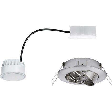 Spot LED encastrable LED intégrée Paulmann Coin 93984 blanc chaud 20.4 W aluminium (brossé) set de 3