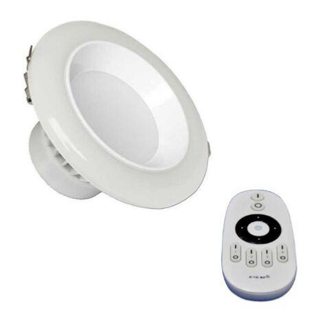 Spot LED Encastrable Lumière Variable 12W avec Télécommande - Blanc - SILAMP