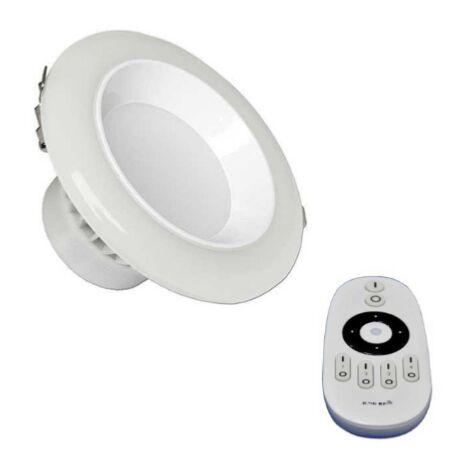 Spot LED Encastrable Lumière Variable 20W avec Télécommande - Blanc - SILAMP