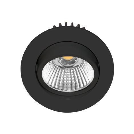 Spot LED encastrable orientable AL1014RD NOIR MAT