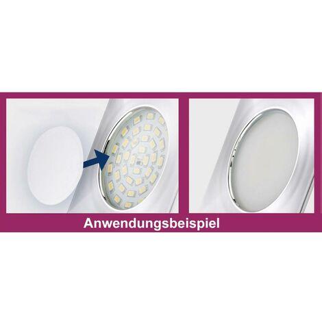 Spot LED encastrable pour salle de bains LED intégrée Briloner 7205-038 blanc chaud 15 W chrome jeu de 3
