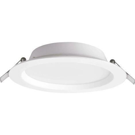 Spot LED encastrable pour salle de bains LED intégrée Megaman MM76715 19 W Rico blanc S146681