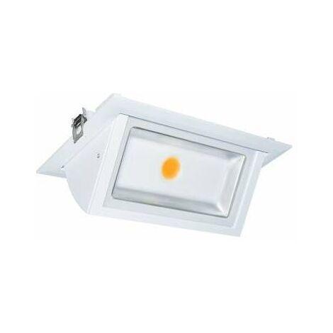 Spot LED Encastrable Rectangulaire Orientable Blanc 40W Blanc Neutre 4000K