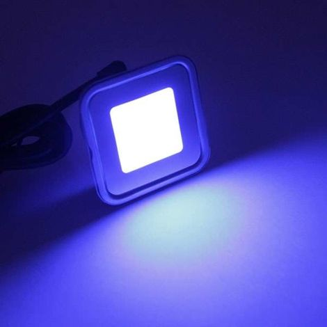Spot LED encastrable RGB carré ultra-plat | RGB - multicolore