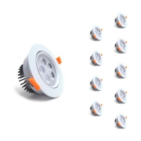 Spot LED Encastrable Rond 5W 80 Orientable (Pack de 10)