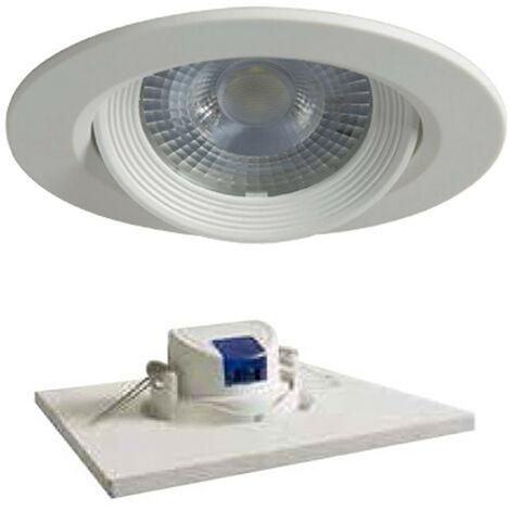Spot LED encastrable rond Duralamp 7W 3000K 40° Blanc D307TWW