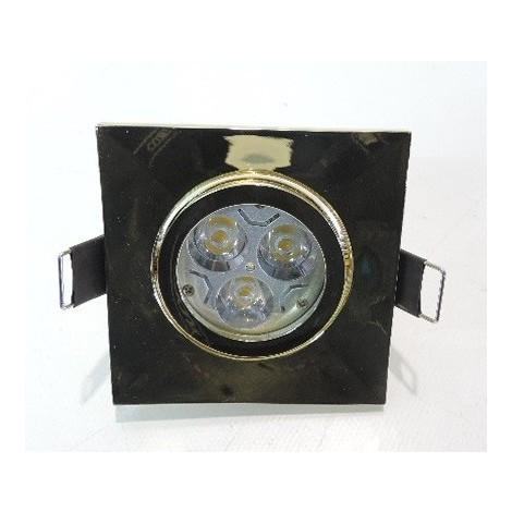 Spot LED encastré carré 84X84mm doré orientable 25° lampe 9W blanc chaud 2700K GU10 230V ONE-FOR-ALL BRUMBERG 2111.05