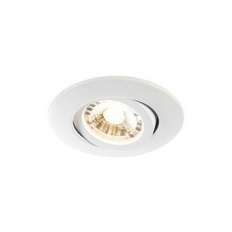 Spot LED encastré Easy-Install Slim LED - 6,2W - 3000K - Rond - Blanc
