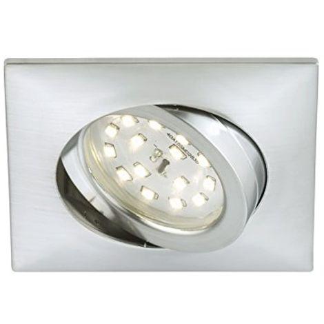 Spot LED encastré orientable, pas de transformateur nécessaire, faible profondeur de seulement 30mm, carré