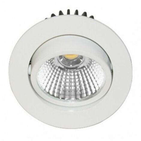 Spot LED encastré Tipi-R1 orientable - 3W - 3000K - Rond - Blanc - Lames ressorts - Non dimmable