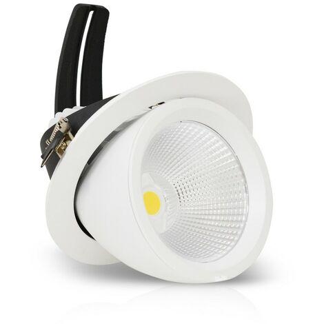 Spot Led escargot 60W (540W) encastrable orientable Blanc neutre 4000°K