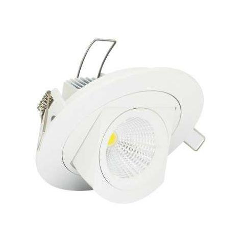Spot LED Escargot Blanc Encastrable Orientable 10W Equivalent 90W
