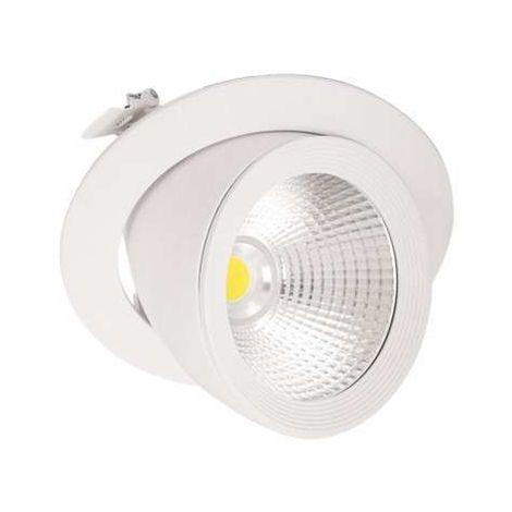 Spot LED Escargot Blanc Encastrable Orientable 20W Equivalent 200W