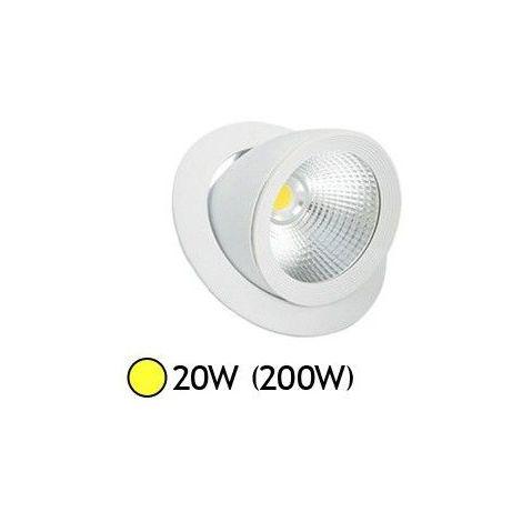 Spot LED Escargot orientable 20W 1600lm IP44 AC220V, coloris blanc