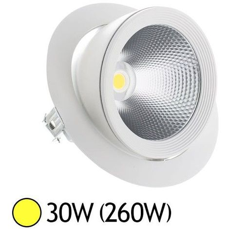 SPOT LED Escargot orientable 30W équivalent 250W Blanc blanc Chaud (3000K)