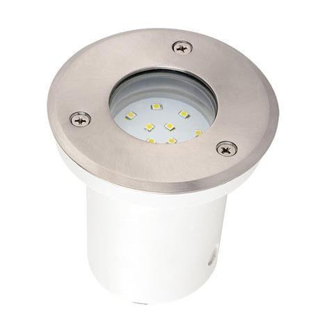 Spot LED étanche rond 1.2W IP67 encastrable au sol Diam. 95mm