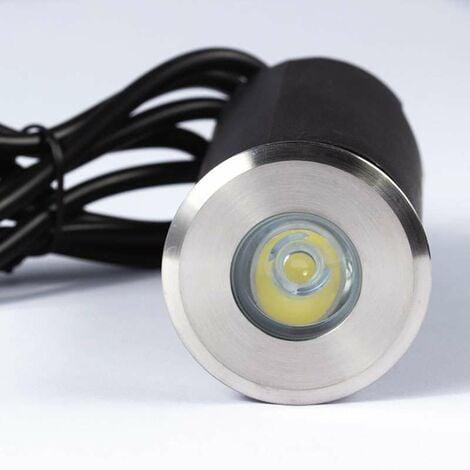 Spot LED extérieur à enterrer 1,5W (20W) 12V - Blanc Chaud 3000K