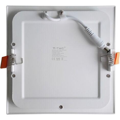 Spot LED Extra-plat  18W Carré Blanc Avec Transfo Vt-1807