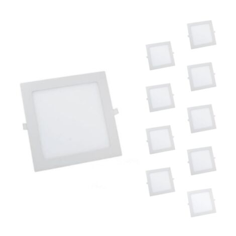 Spot LED Extra Plat Carré 24W Blanc (Pack de 10)