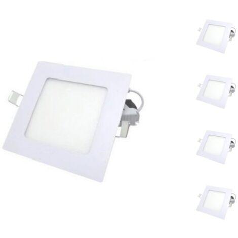 Spot LED Extra Plat Carré BLANC 24W (Pack de 5)