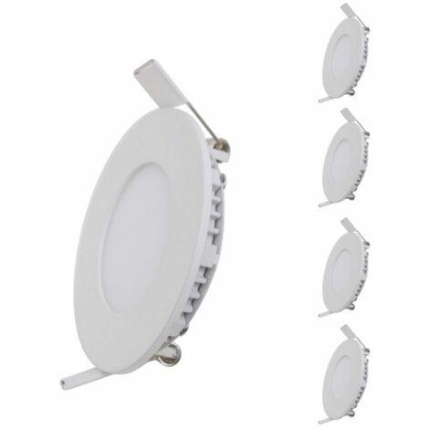 Spot LED Extra Plat Rond BLANC 12W (Pack de 5)