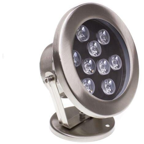 Spot LED Fixation au Sol RGB 12V 9W IP68