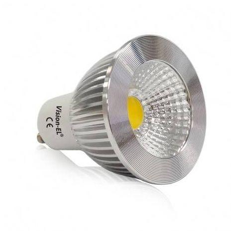 "main image of ""Spot LED GU10 5W Dimmable Aluminium 80° - Couleur - Blanc chaud 3000°K"""