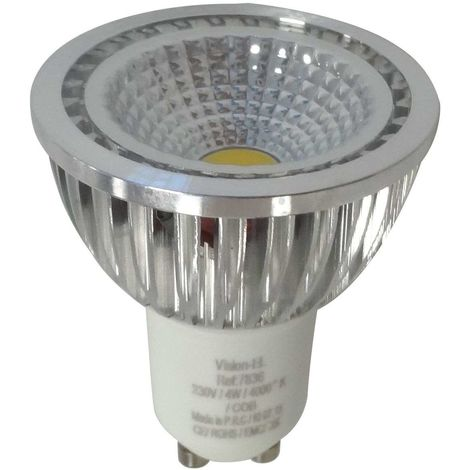 Spot LED GU10 COB 4W (éq 35W) 80°
