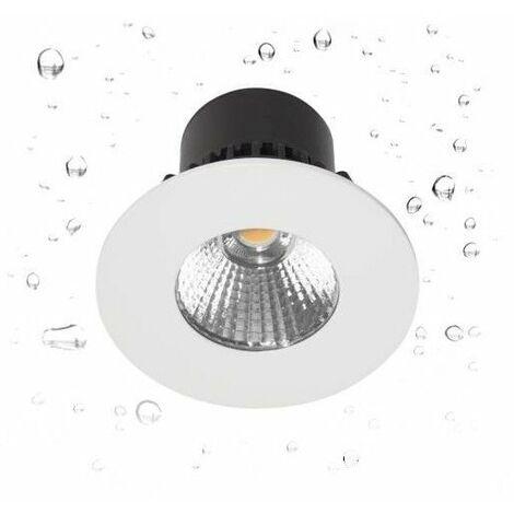 Spot LED HD1014 R-230 encastré en fonte d'aluminium - Fixe - 7W - 600Lm - Rond - Blanc mat