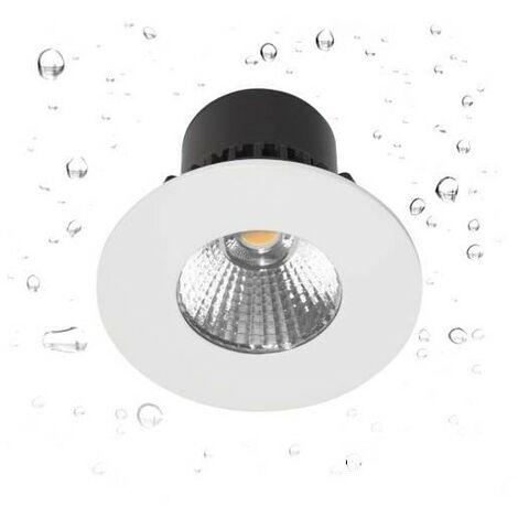 Spot LED HD1014 R-230 encastré en fonte d'aluminium - Fixe - 7W - 650Lm - Rond - Blanc mat