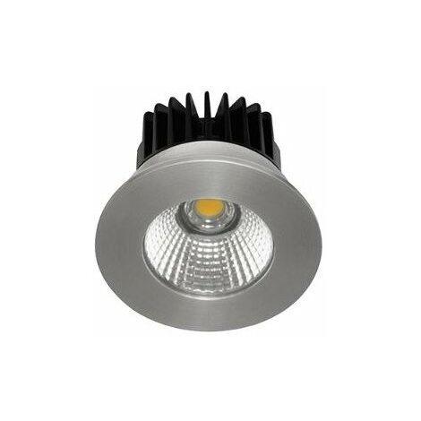 Spot LED HD1014 R encastré en fonte d'aluminium - Fixe - 6W - 700Lm - Rond - Aluminium