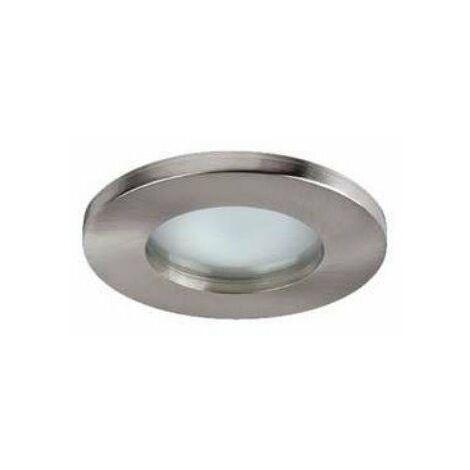 Spot LED HD1070 R - GU5.3 - Fixe - 50W - Rond - Nickel satiné - Sans ampoule