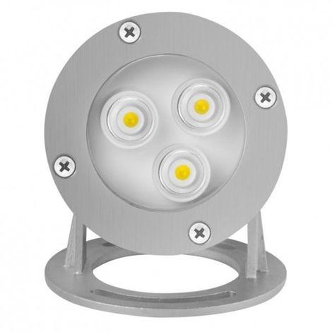 Spot LED impermeable IP68 3W blanco cálido 3500 K