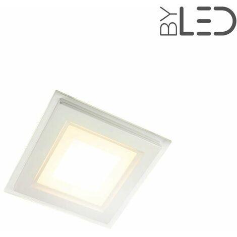 Spot LED intérieur carré encastrable en verre 6W (glass) | Variation de lumière Non dimmable - Température de couleur Blanc Chaud