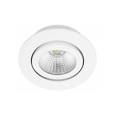 Spot LED Lowy RDX - Orientable - 8W - 600Lm - Rond - Blanc mat - Dimmable